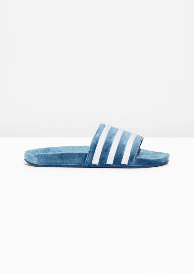 & altre storie immagine 1 della adidas adilette diapositive in scarpe blu