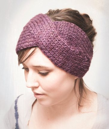 Knitting Pattern Parisian Twist Headband Ear Warmer Pdf Knitting