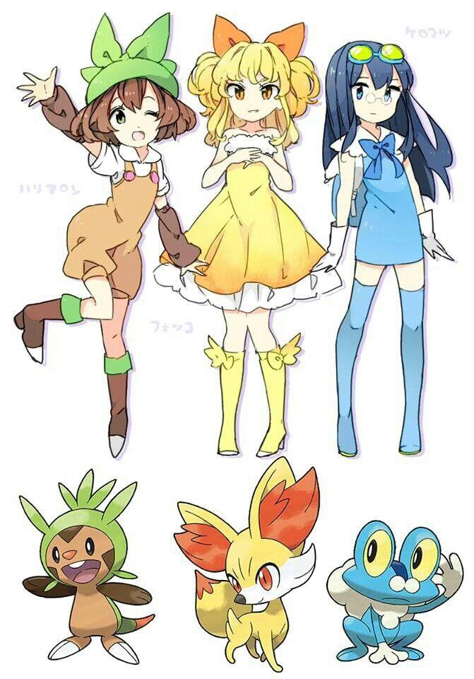 Pokemon X and Y starters - Chespin, Fennekin, and Froakie ...