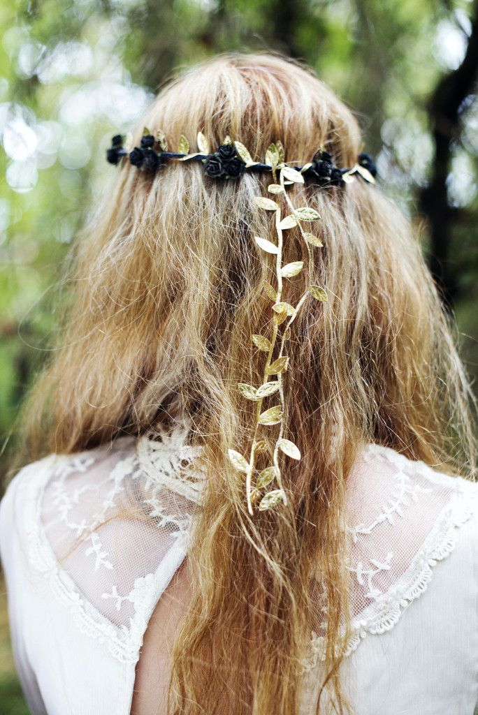 Black and Gold Flower Crown 6b4d395bab3
