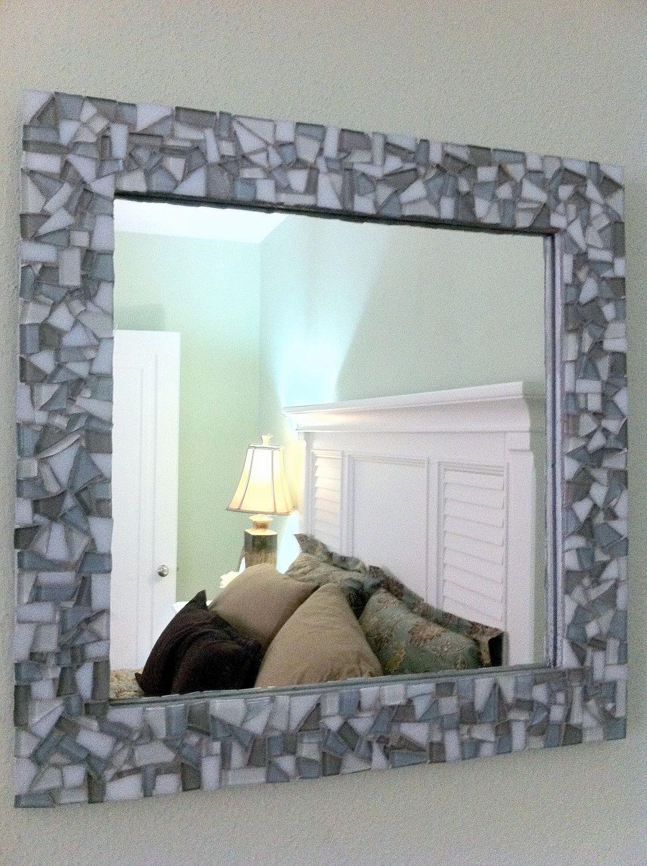 Mosaic Wall Mirror Square By Greenstreetmosaics 58 00