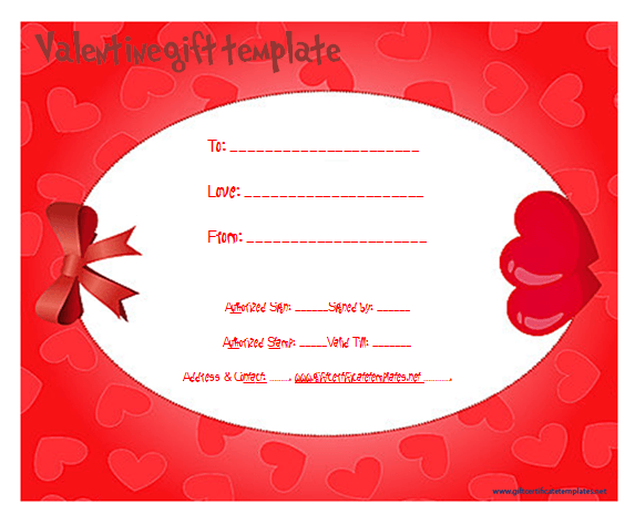 HeartFrameGiftCertificateTemplate  Beautiful Printable Gift
