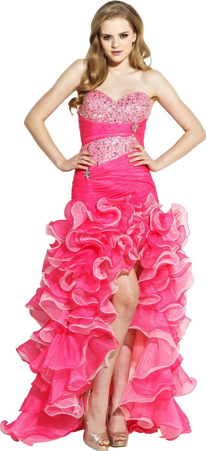 1000  images about Pink Prom Dress on Pinterest - Beaded chiffon ...