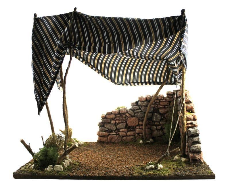 Tenda araba per statue da cm 30 capanne per presepe semprini arredi
