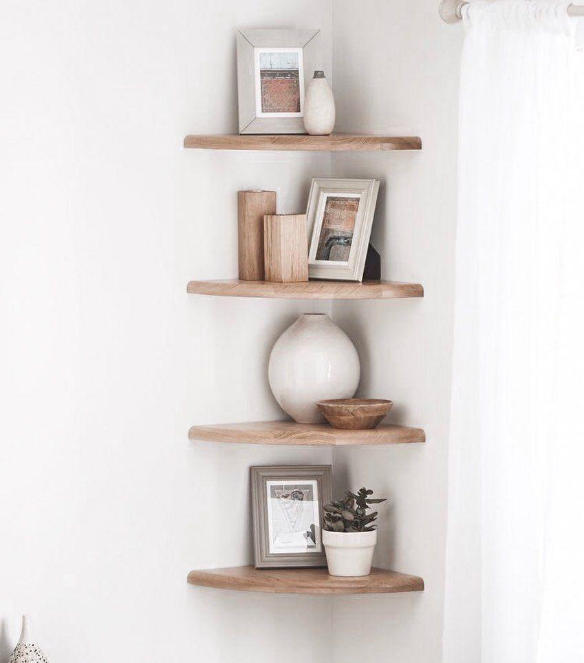 All Details You Need To Know About Home Decoration In 2020 Corner Shelf Design Corner Shelves Bedroom Corner Shelves Living Room