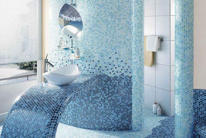 Mosaik Badezimmer Bad und Fliesen Pinterest - badezimmer fliesen muster