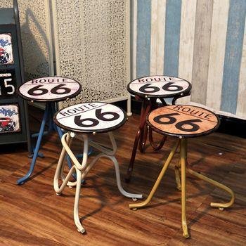 De Metal creativa viento industrial bar taburete silla Americano Retro Estaño artesanías personalidad Muebles Para El Hogar muebles de decoración