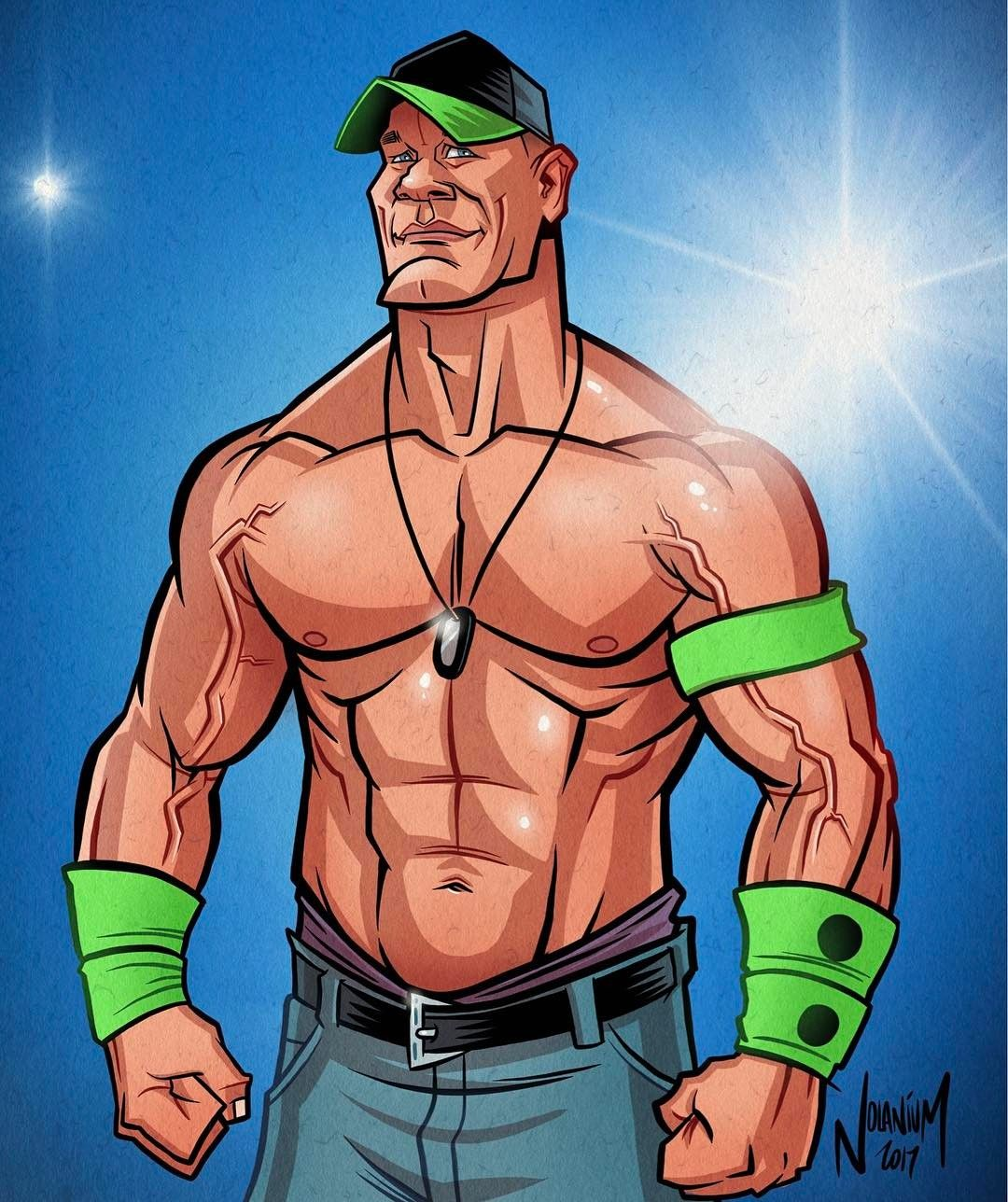 John Cena By Nolanium John Cena Caricature Sketch Pro Wrestling