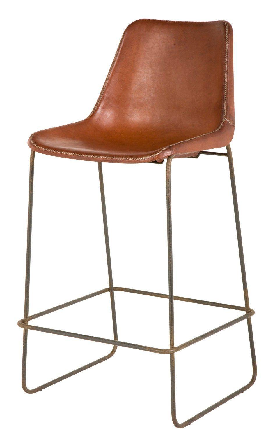 Fernando Bar Stool Brown Stools Furniture Jayson Home Leather Bar Stools Modern Bar Stools Brown Leather Bar Stools