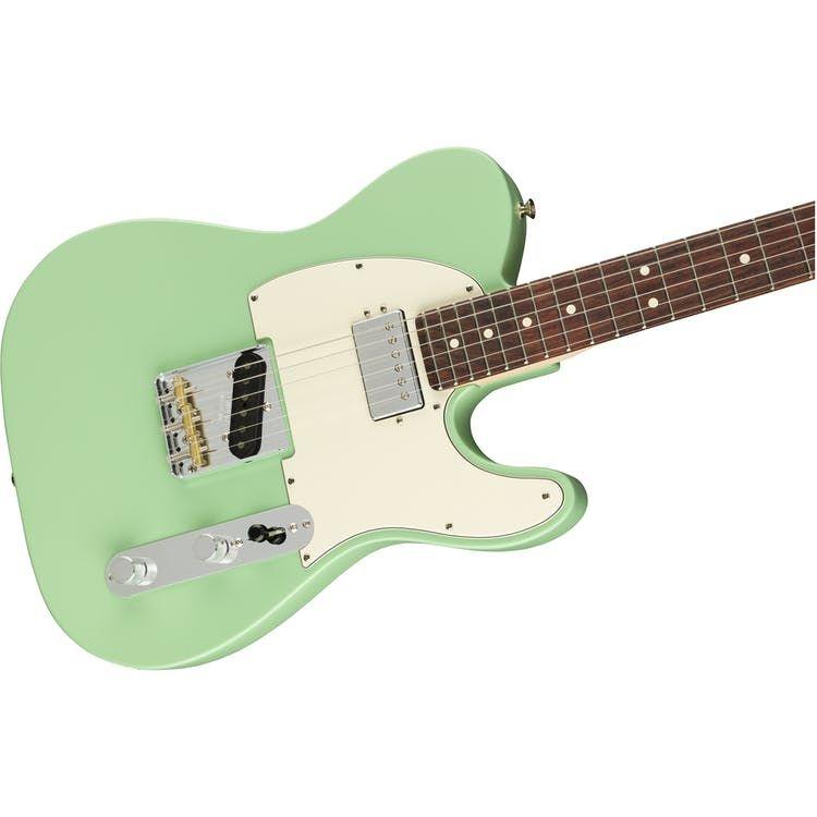 Fender American Performer Tele w/ Humbucker in Satin Surf Green - Andertons Music Co #fenderguitars