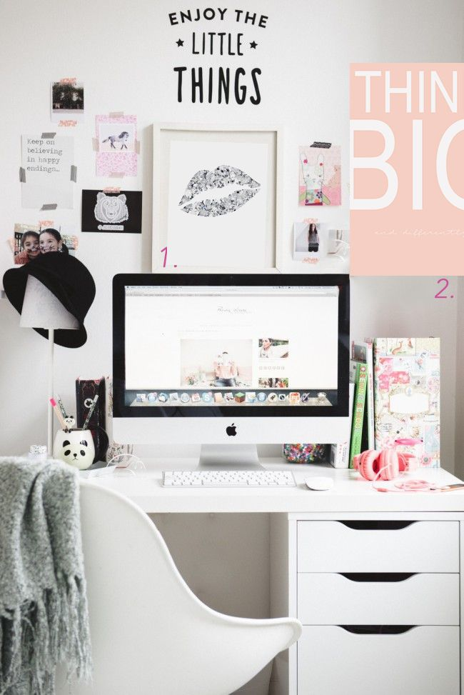 best home office ideas for bloggers and girl bosses | büro ideen, Innenarchitektur ideen