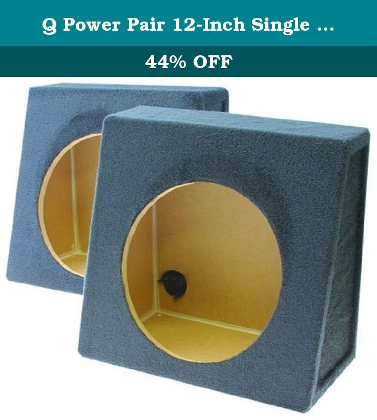1-Pair Q Power Pair 12-Inch Single Unloaded Boxes