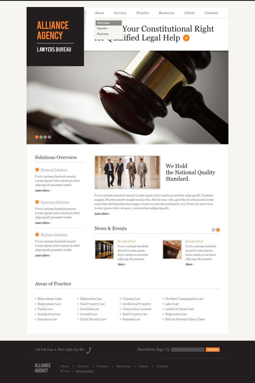Law Firm Responsive Website Template 40034 Website