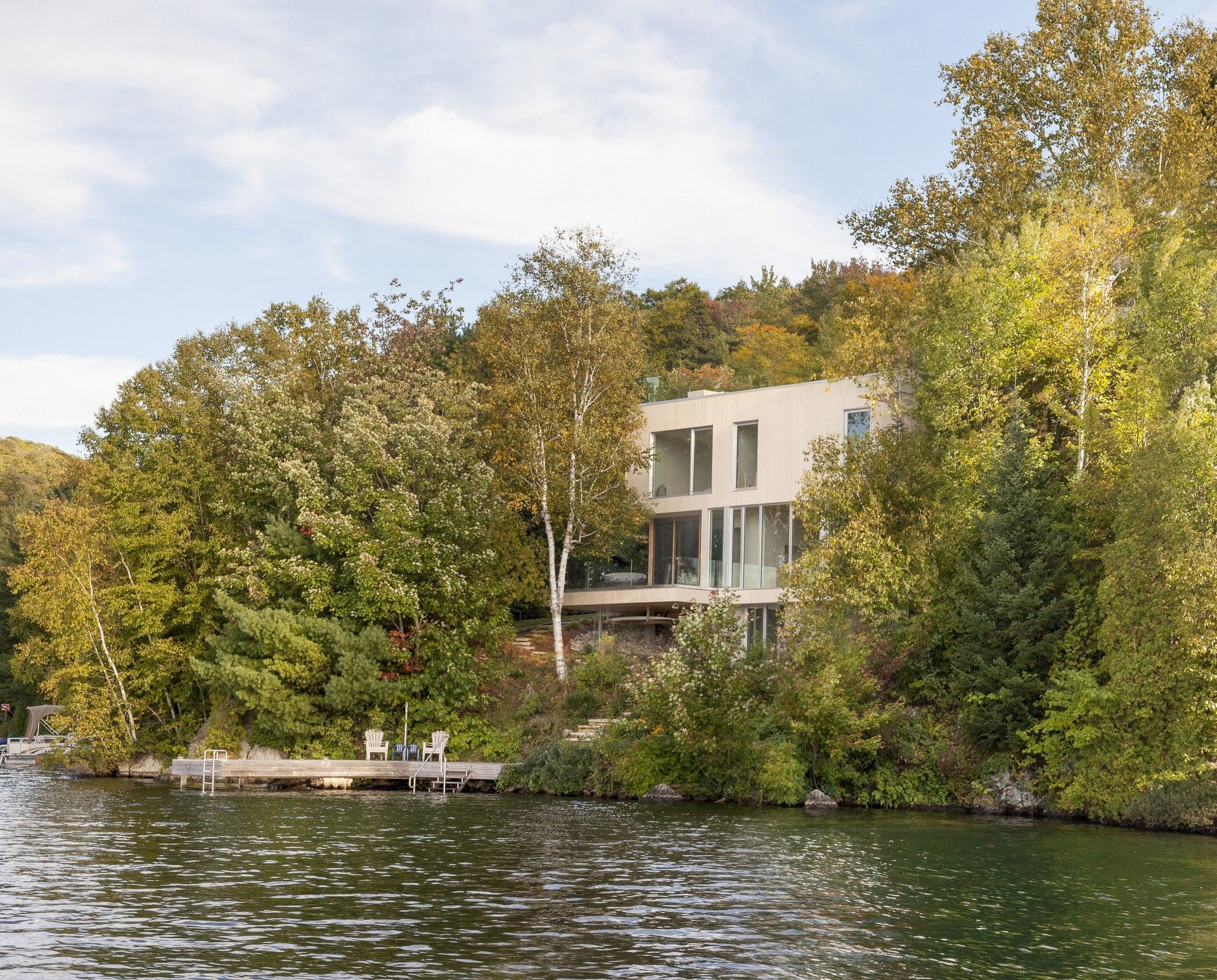 Modern Lake House Situated in Quebec Canada