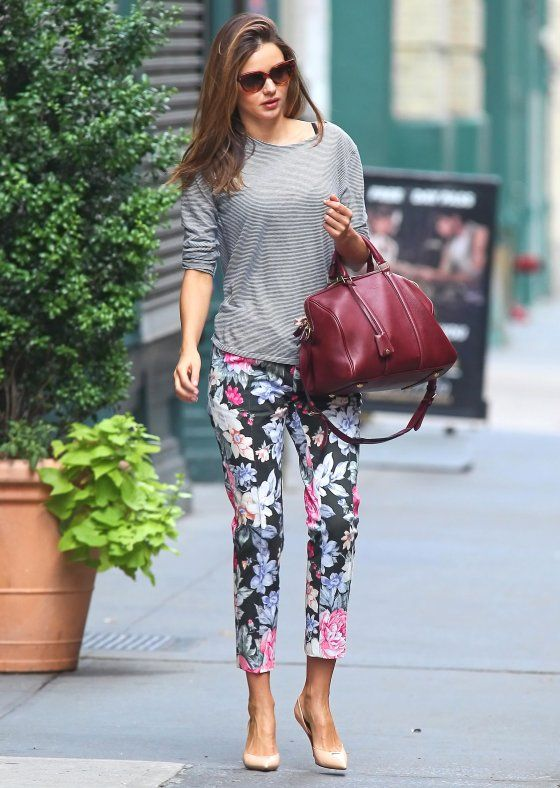 Miranda Kerr Loves Florals: Celebrity Trend Alert