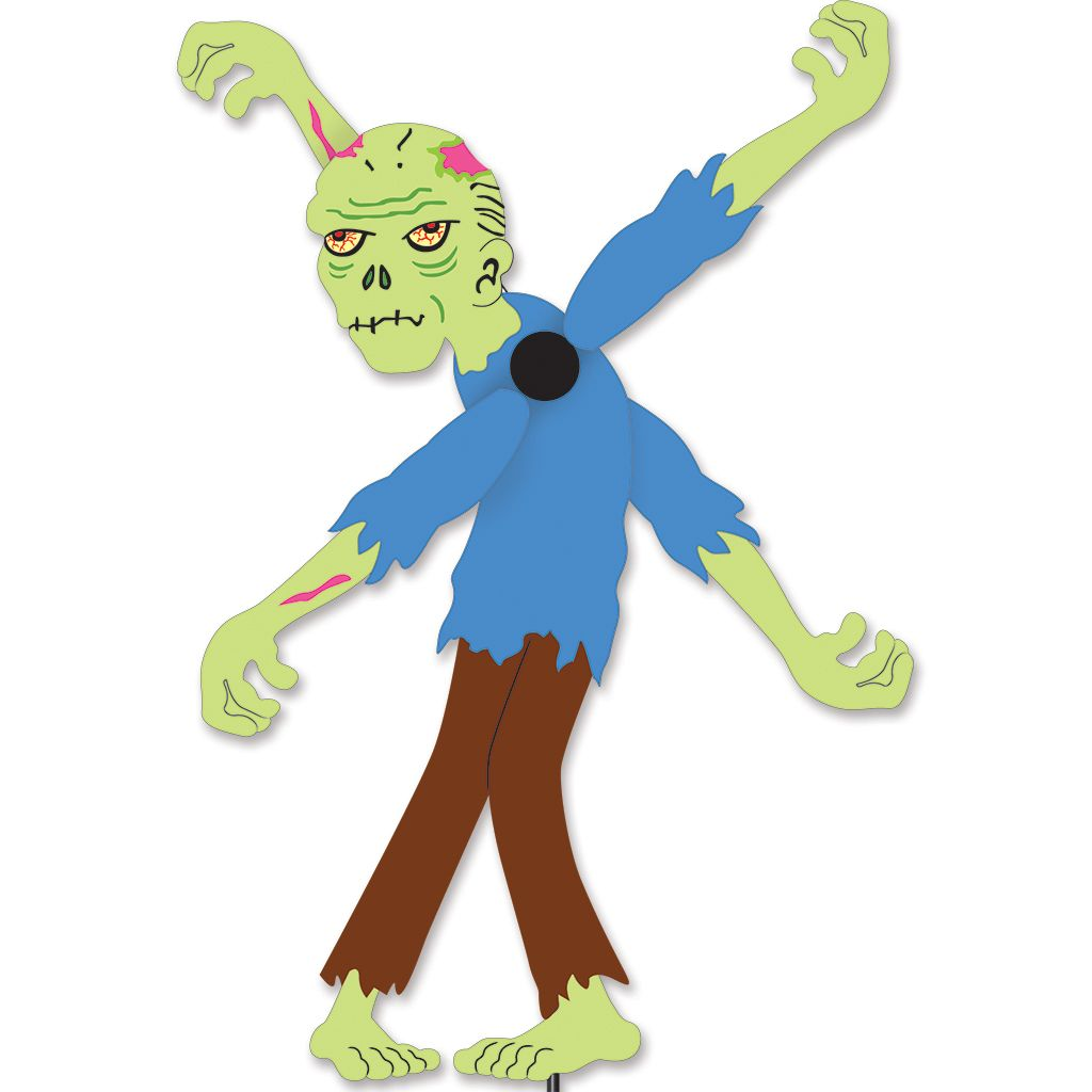 Our Premier Designs Halloween Zombie Whirligig Yard Garden Spinner Is A  Great Addition To Any Zombie Fan Out There.