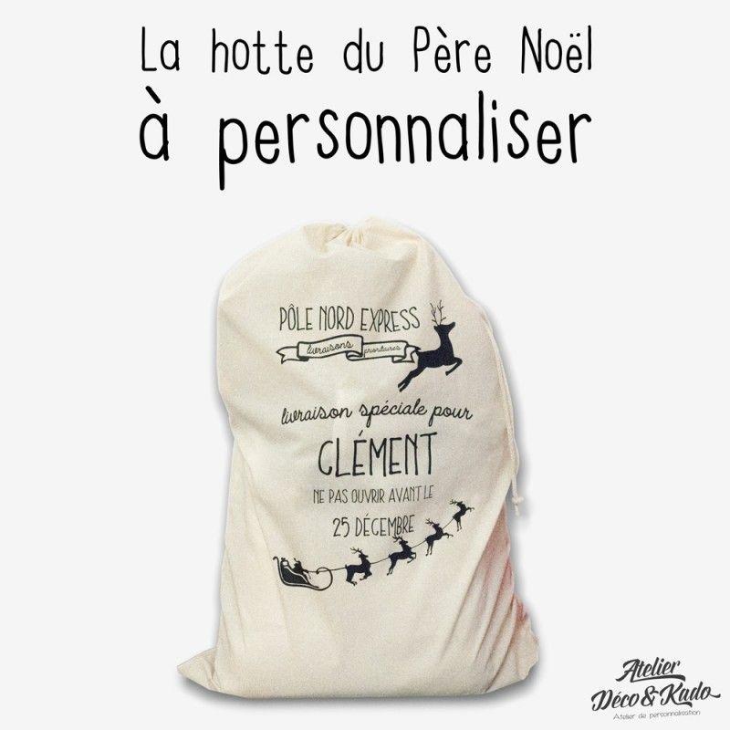 Populaire La hotte du Père Noël à personnaliser - Atelier Déco&Kado | Sacs  YM62