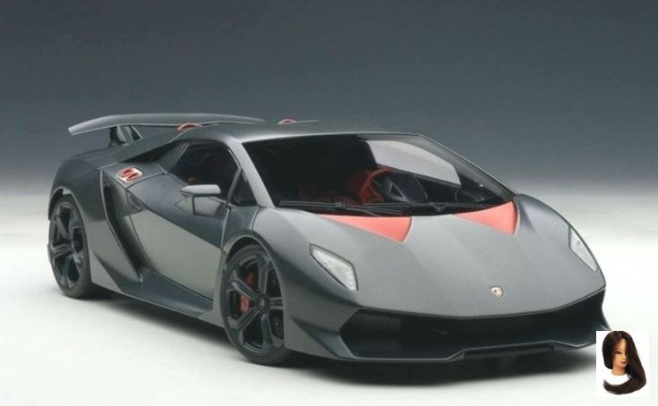 Lamborghini Sesto Elemento Grey Carbon Fiber Pattern 1/18 Scale Diecast Car Model By AUTOart 74671 #lamborghinisestoelemento
