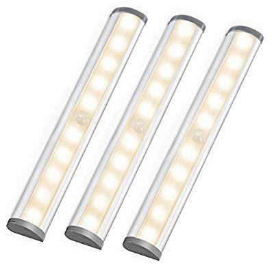 Le Led Closet Light 10 Led Motion Sensing Under Cabinet Lighting Wireless Stick On Anywhe Under Cabinet Lighting Stair Lights Under Cabinet Lighting Wireless