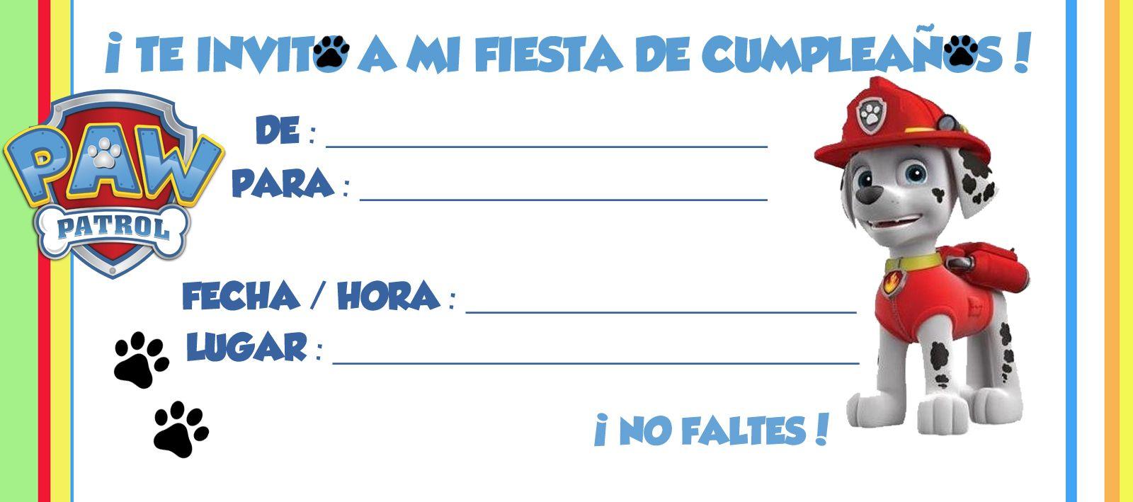 Invitacion Patrulla Canina Jpg 1600 709 Invitaciones Patrulla Canina Invitacion Cumpleaños Patrulla Canina Tarjetas De Cumpleaños Para Niños