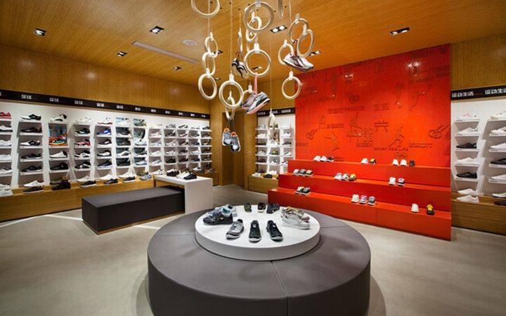 Sports store retail design shop interior sports display li ning stores by