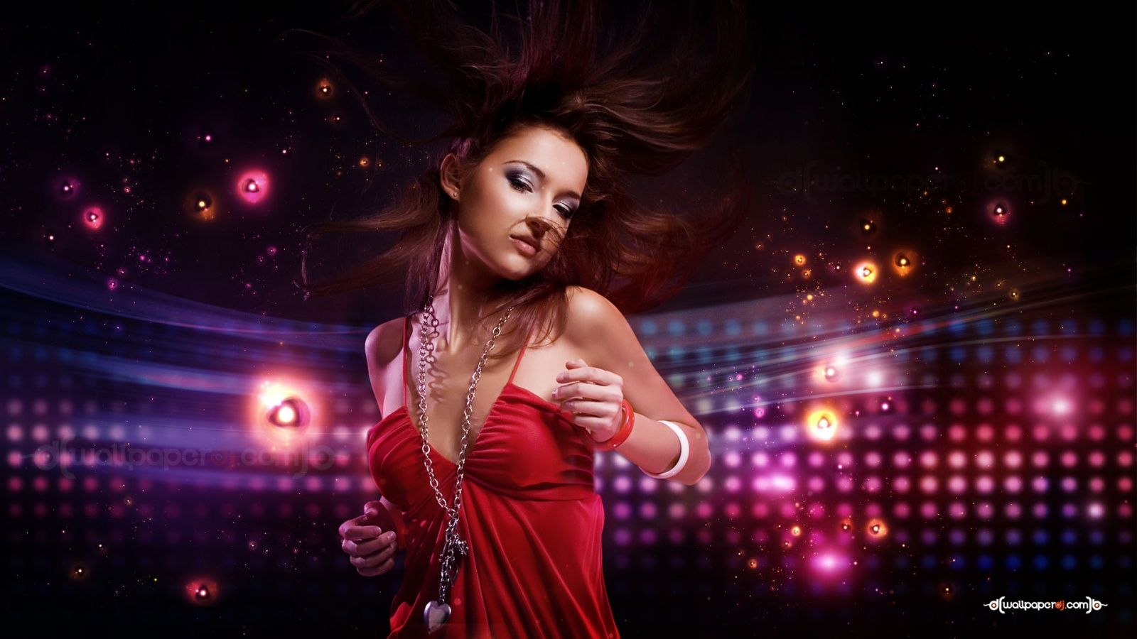 Light up girl dance club 1600 900 - Club lights wallpaper ...