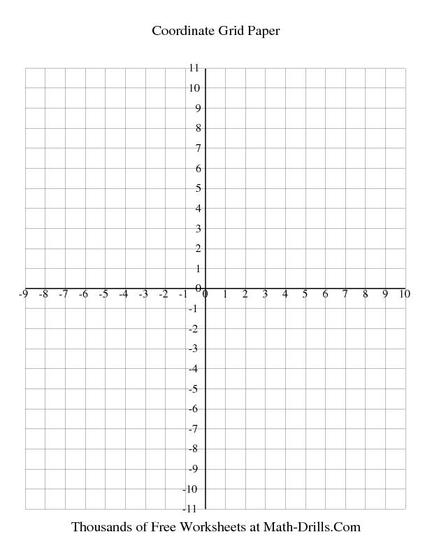 Graph Paper 1 Cm Coordinate Grid Paper Every Line