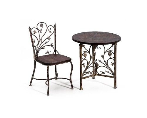 Table 2 Chaises Fer Forgé Bois Stuff Deco Pinterest Deco