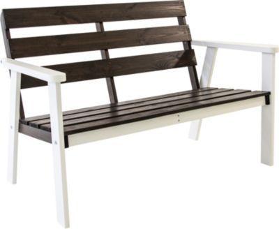 2-Sitzer Gartenbank HANKO Weiß/Taupegrau ca 112x65x79 cm Jetzt - gartenmobel polyrattan eckbank