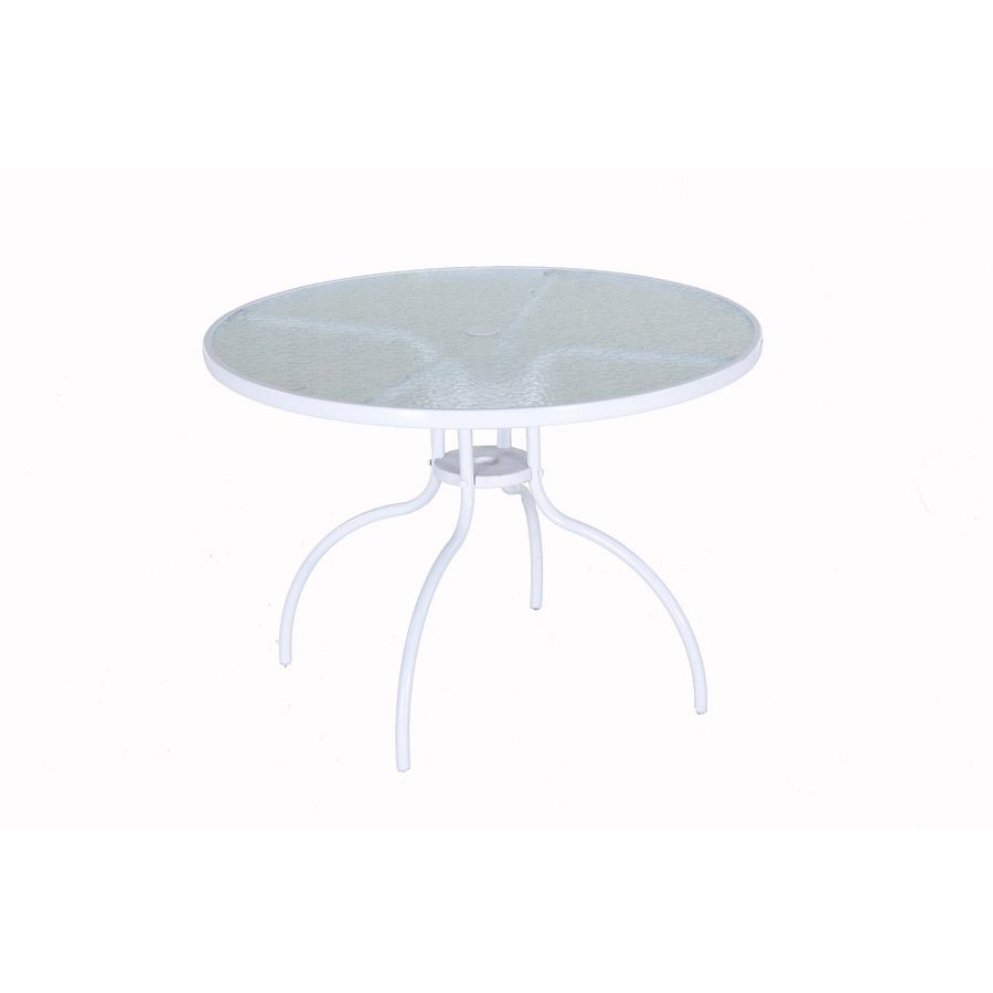 Homestyles La Jolla Cast White Round Aluminum Outdoor Dining Table 5550 30 The Home Depot Outdoor Dining Table Patio Furniture Chairs Aluminum Patio Furniture