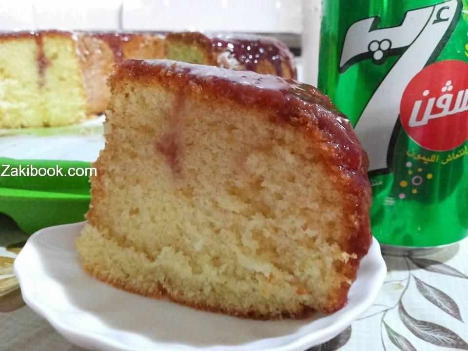 كيكة السفن أب هشة واسفنجية 100 زاكي Desserts Vanilla Cake Food