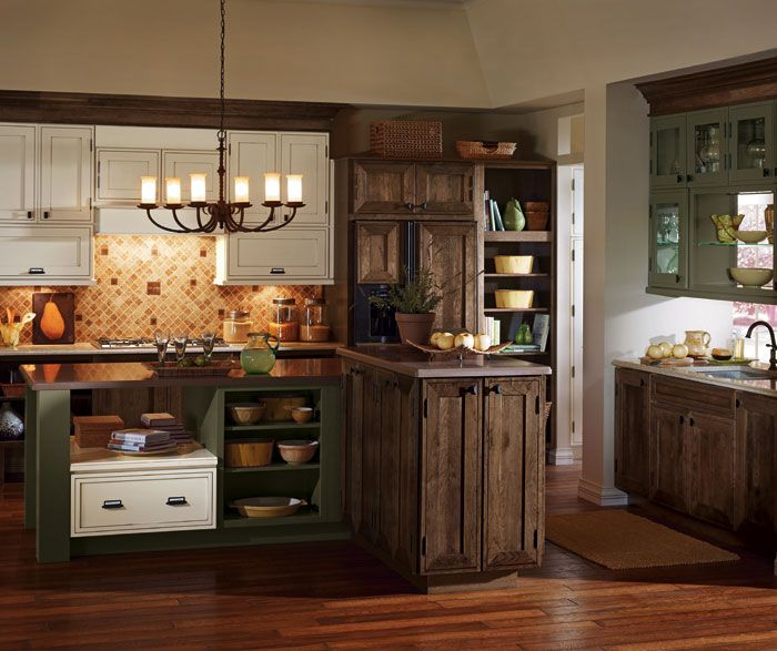 Kitchen Cabinets Rustic: Decora Brand, Airedale Style, Cherry Wood, Mink Finish