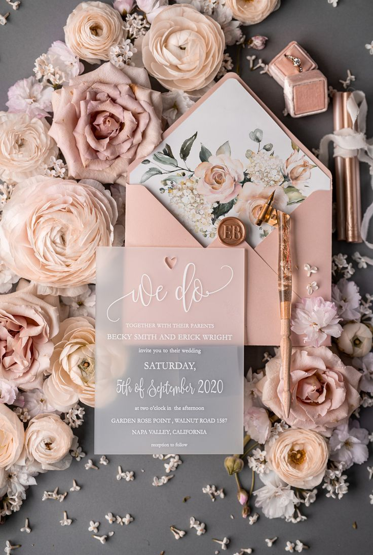 Stylish wedding invitation romantic elegant invites 50/ACGNC/z in 2020 | Elegant invitations, Weddin