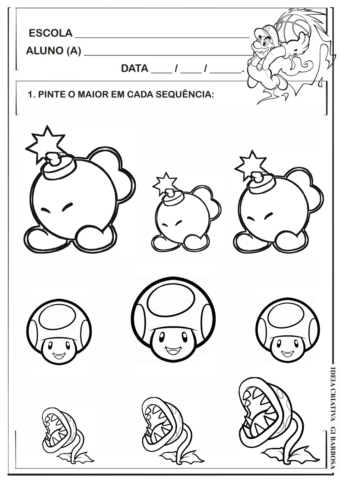 Workbooks super mario math worksheets : atividades-educativas-maior-menor-sequencia-super-mario-amo ...