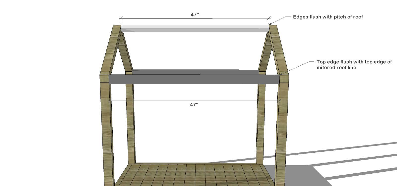 The Design Confidential DIY Furniture Plans // How To Build A Toddler Sized  House Bed With Platform + Chimney