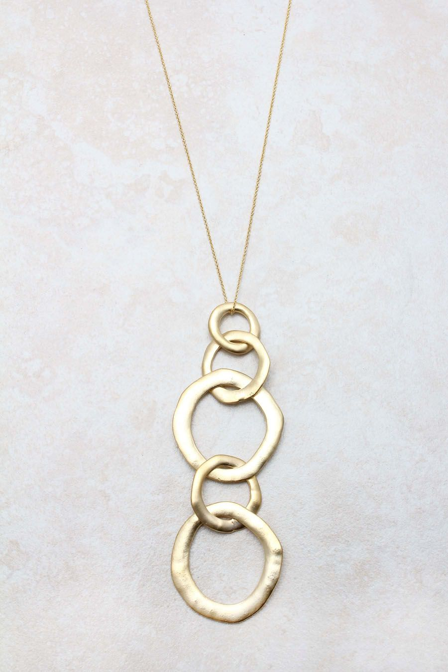 Golden link necklace wantful things pinterest fashion