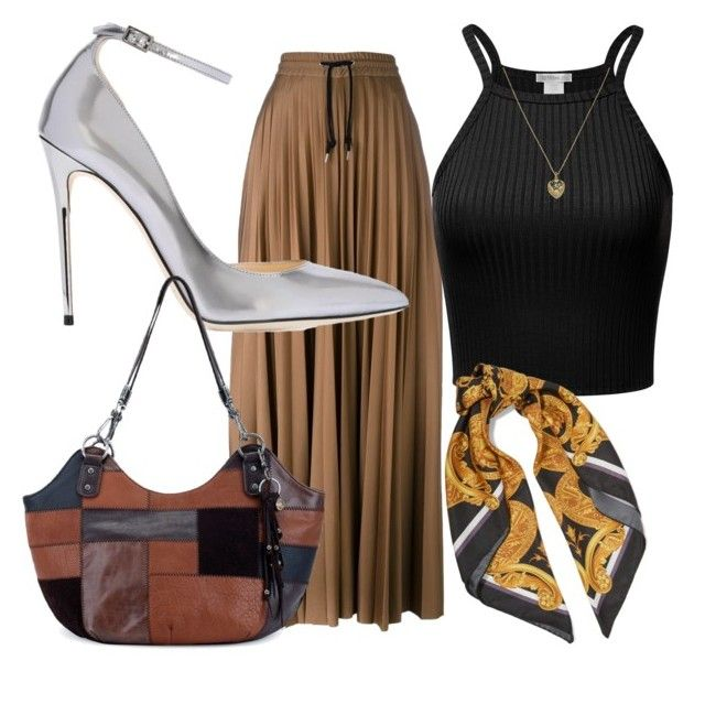 Untitled #10 by anu-lehtonen on Polyvore featuring polyvore, fashion, style, MSGM, Jimmy Choo, The Sak, Estella Bartlett, Versace and clothing