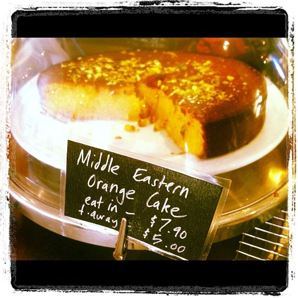 Middle Eastern Orange Cake at Sideways Delicafe, Dulwich Hill ~ their Persian Love Cake also awesome.