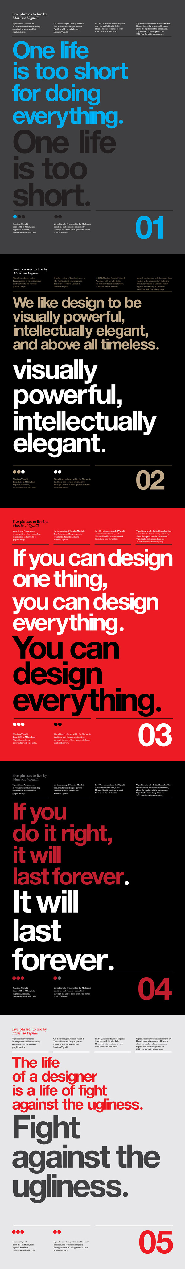 Vignelli Forever   Poster tribute by Anthony Neil Dart