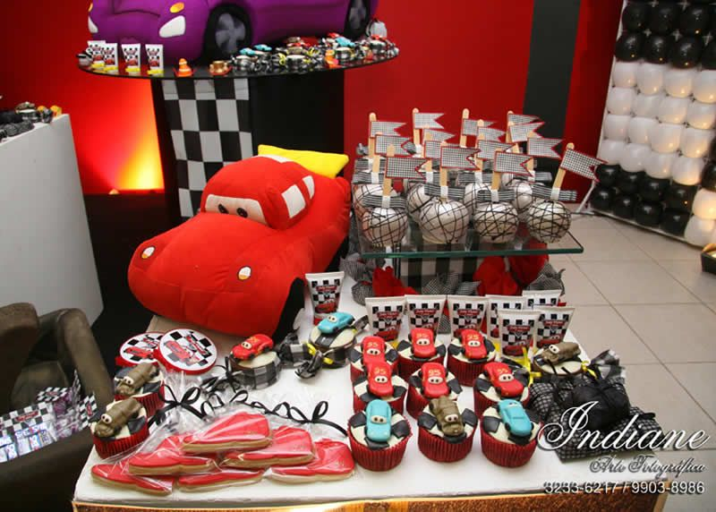 Birthday Partycars Theme Partyboys Partycarspixar Cars Decorationscars Decorationspixar Cakecar