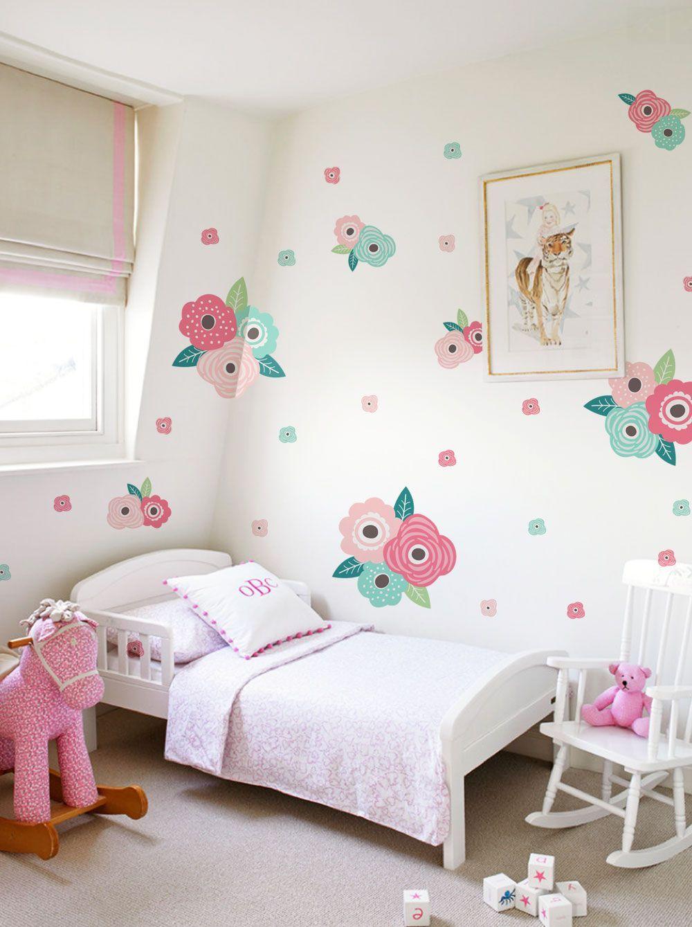 Best Kids Flower Wall Sticker Kids Room Wall Stickers Floral 400 x 300