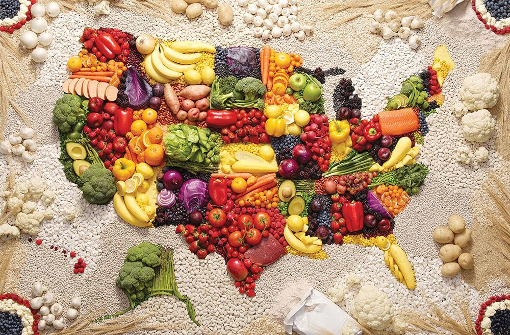 The United States of Fruit and Veg