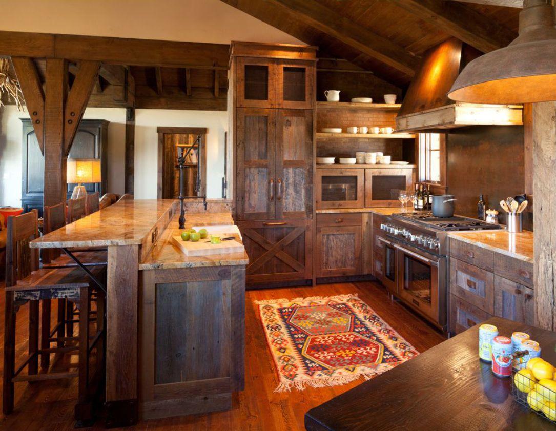Rustic Kitchens terra firma custom homes   rustic kitchen   lake and cabin