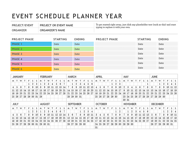 event planner annual planner pinterest planner template event
