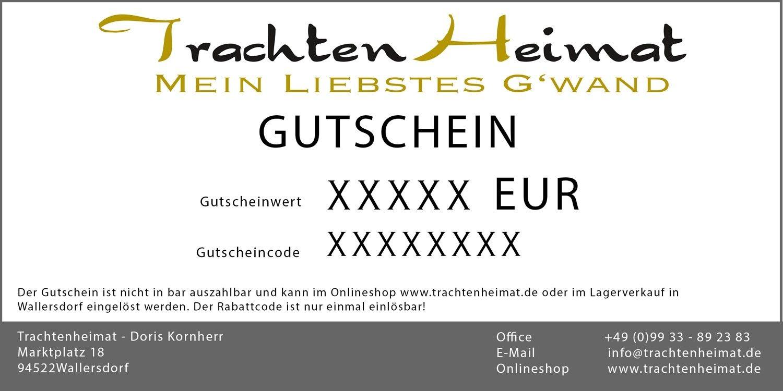Trachtenheimat Gutschein Zum Ausdrucken Gutscheine Trachten Online Shop Vintage Dirndl Gutschein Ausdrucken