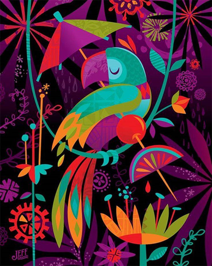 Photo of Tiki Bird Art von Jeff Granito beim Disneyland Resort Merchandise Event …