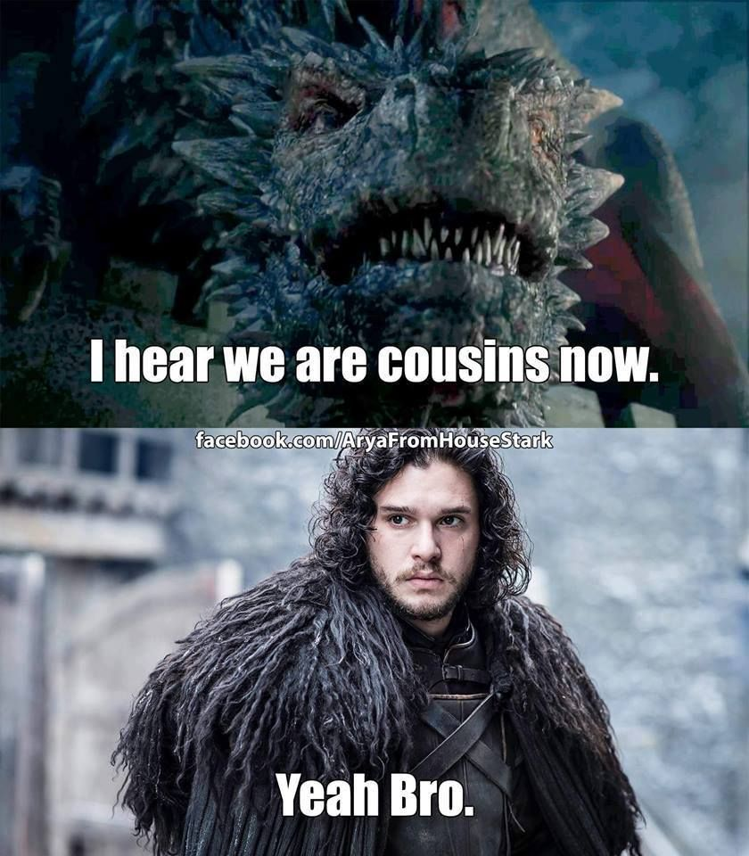 Game of Thrones funny meme Jon snow, King in the north