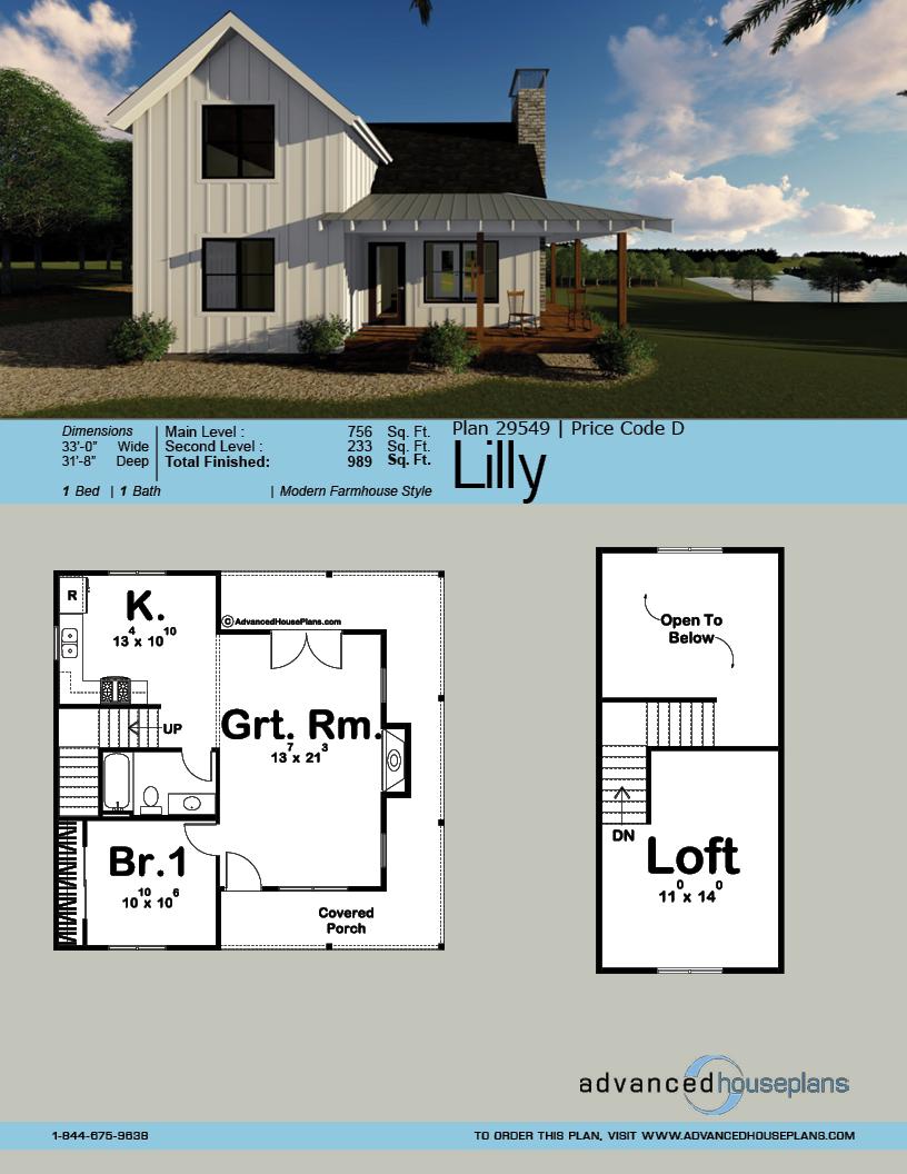 Modern Farmhouse Cabin Plan Lilly Cabin Plans House Plans Farmhouse Modern Farmhouse