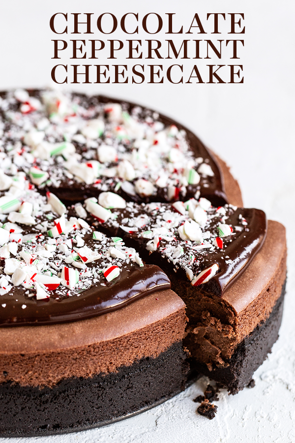 Chocolate Peppermint Cheesecake #oreofrosting