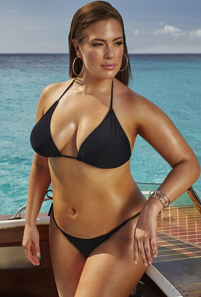 fd334cb440 Ashley Graham x Swimsuits For All Icon Black Triangle Bikini with ...